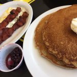 pancakes & bacon at Moab Diner