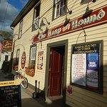 Exterior of the pub in vibrant autumn colours! Pumpkin Martinis!