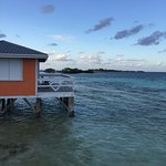 View of the over water cabana