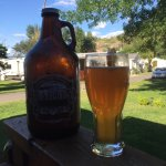 Wit beer growler brings out the summer
