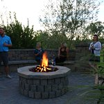 Relax with a glass of wine around the fire pit