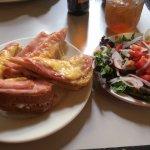 Croque Monseur & side salad
