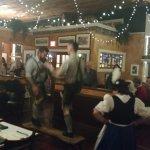 The bench dance at Oktoberfest