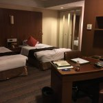 A delux twin bed room on 10/F
