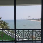 View towards city of Colombo from a 'Direct Sea View' suite lounge area, 5th floor.