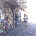 A different art wall adjacent to the bubble gum wall