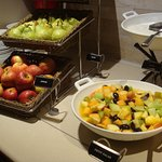Fruit selection on the breakfast buffeyt