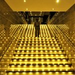 Lighted staircase