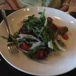 CHARLESTON STYLE CRAB CAKES- Fingerling Potatoes & Shallots, Arugula Salad, Crawfish Beurre Blan