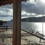 View from our table at the Crannog Seafood Restaurant