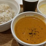 Rice with Sesame Seed, Lobster Bisque, and Cabbage Shrimp Cream Soup