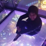 The glass floor!