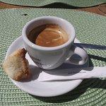 Café et gâteau coco