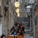 The narrow alleys are full of small restaurants and bars