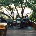 A deck with views across the Zambezi