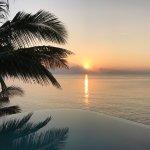 Sonnenaufgang vor der Villa 2