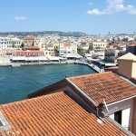 View from the hotel rooftop - Chania old harbour