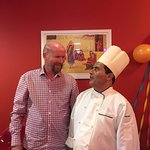 Me and the ever-friendly chef at 'Chefs', Ramesh.