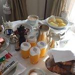 Room service breakfast.