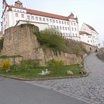 The imposing building - Schloss Colditz - has been renovated and is beautiful