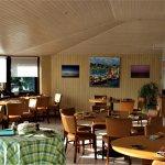 salle à manger avec vue sur mer