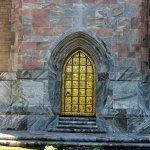 The golden door of the tower.