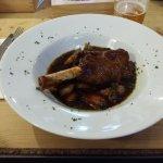 Minted Lamb Shank with Saute Potatoes