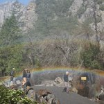 double rainbow at Bridal Veil falls