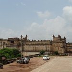 The imposing structure, as seen from the Jahangir Mahal