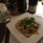 Gnocchi, mushroom, cream, garlic, marjoram