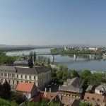 Esztergom town and the Danube