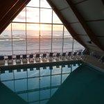 piscine d'eau de mer couverte chauffée