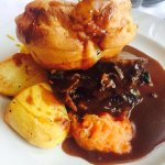 beef and Yorkshire pudding dinner in Lonsdale Restaurant