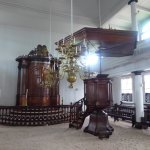 the Holy Ark and a pulpit