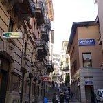 On the way to Ristorante Manora