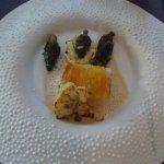 Steinbutt, Kartoffelkruste, Blumenkohl, Morcheln
