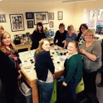 Coaster class Students enjoying their crafting time before afternoon tea