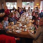 Birthday party enjoying Afternoon tea