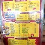 Meals and jumbo menu