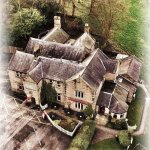 The beautiful Langroyd Hall from all the way up in the sky. Kindly made by one of our guests.