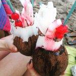 Cocoloco en la playa de capurgana,cerca del hotel.