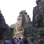 View from the angle of Bayon Temple.