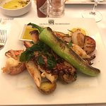 Grilled Octopus, Prawns, Lobster, Scallops with Roaster Potatoes