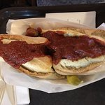 I can't get meatball sammie all in pic!
