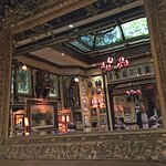 A view of the dining room reflected in the mirror above our table.