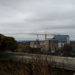 View of Edinburgh from rooftop