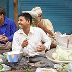 Venders sell their fruit in carts whereas the people who grow the fruit sell theirs from the flo