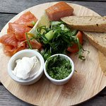 Local smoked salmon platter - delicious!