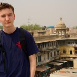 me, on the roof of the spice market we visited