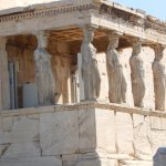famous Caryatid and temple of athena